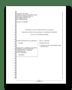 Cover of Kolbe Honda Lawsuit